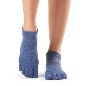 Full Toe Low Rise Grip Socks Navy