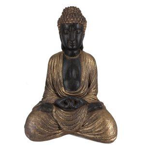 Καθιστός Βούδας Καφέ-Χρυσό