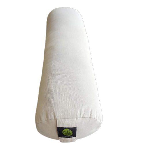 Cotton Bolster Round White Sand
