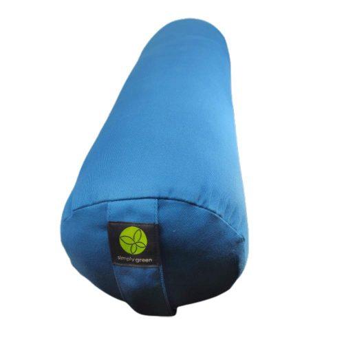bolster round cotton pagoda blue