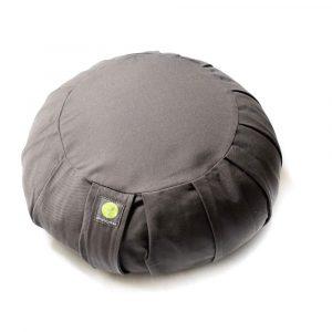 round zafu meditation cushion grey