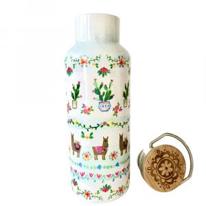 White bottle lama water bottle