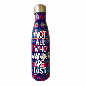 Not all who wander are lost water bottle
