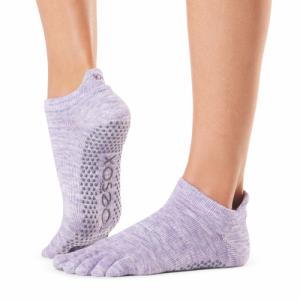 Full Toe Low Rise Grip Socks Purple