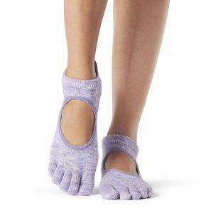 Full Toesox Bella Grip Socks Purple