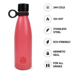 pink bottle thermos