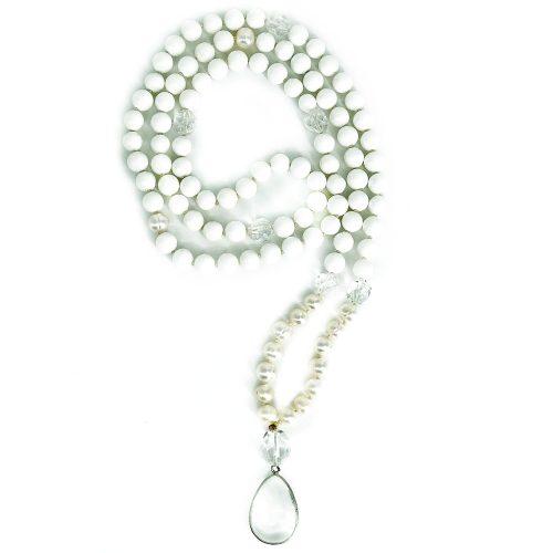 Mala Onyx Pearl Clear Quartz