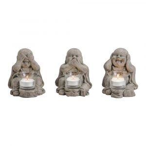 Buddha Statue Candle Holder 14cm