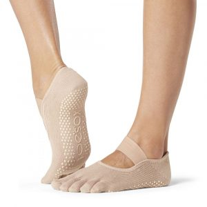 Full Toesox Mia Grip Socks Nude