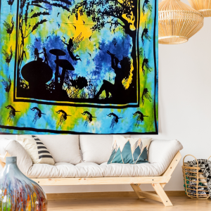 Fairy Wonderland tapestry in room