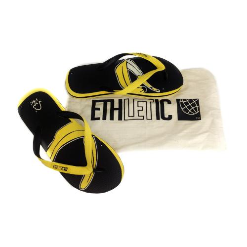 Ethletic Flip Flop Yellow Black